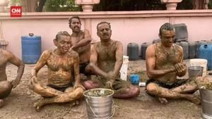 VIDEO: Warga India Klaim Kotoran Sapi Bisa Tangkal Corona