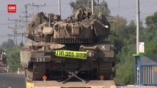 VIDEO: Israel Tambah Pasukan Militer di Dekat Gaza