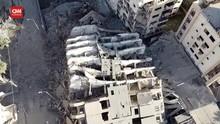 VIDEO: Serangan Udara Israel Runtuhkan Apartemen di Gaza