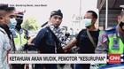 VIDEO: Ketahuan Mudik, Pemotor Kesurupan