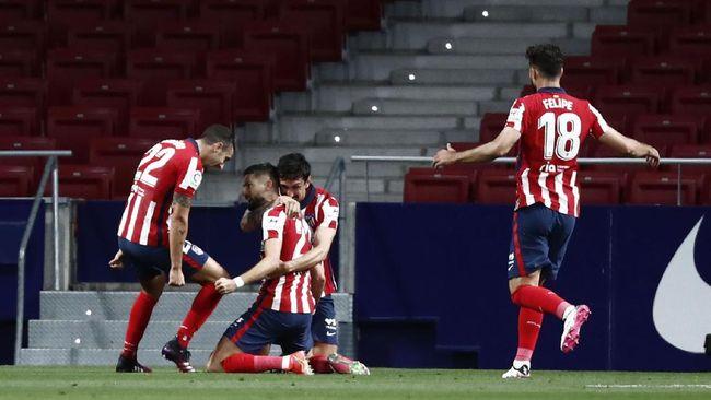 Atletico Madrid mendekati gelar juara Liga Spanyol usai mengalahkan Real Sociedad 2-1 di Stadion Wanda Metropolitano, Kamis (13/5) dini hari WIB.