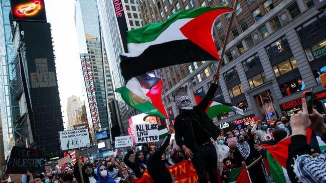 Ribuan demonstran di sejumlah Amerika Utara dan Eropa, termasuk orang Yahudi, menggelar aksi solidaritas membela Palestina dalam konflik dengan Israel.