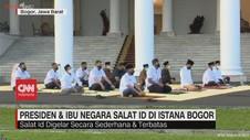 VIDEO: Presiden & Ibu Negara Salat Id di Istana Bogor