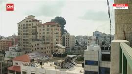 VIDEO: Detik-detik Serangan Udara Israel Hantam Bangunan Gaza