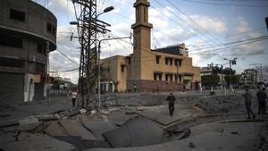 Israel Kembali Gempur Gaza, Jalan Hingga Gardu Rusak