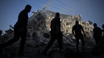 Gedung AP dan Al Jazeera di Gaza Runtuh Dihantam Rudal Israel