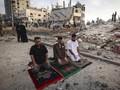 FOTO:  Lebaran Rakyat Palestina di Tengah Gempuran Israel