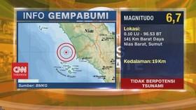 VIDEO: Gempa Magnitudo 6,7 Guncang Nias