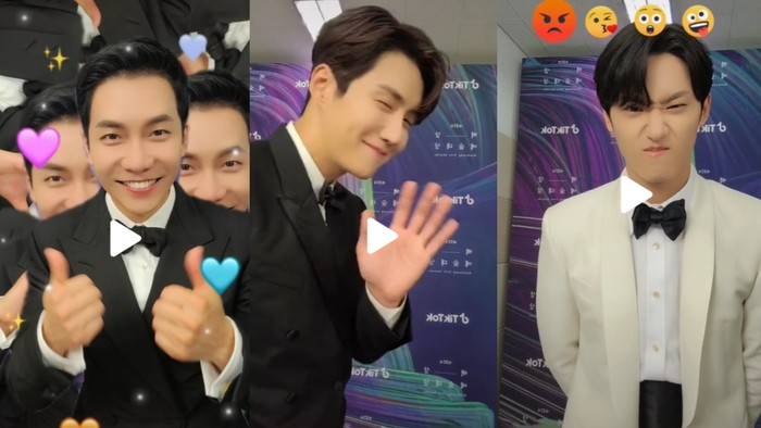 Lee Seung Gi, Kim Seon Ho, dan Lee Do Hyun iseng bikin video TikTok sampai tembus FYP! / foto: tiktok.com/baeksang.official