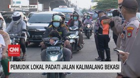 VIDEO: Pemudik Lokal Padati Jalan Kalimalang Bekasi