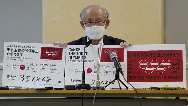 Petisi agar Olimpiade Tokyo 2020 dibatalkan secara resmi diberikan kepada pemerintah kota Tokyo.