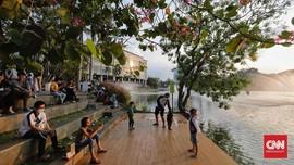FOTO: Ramai Pusat Perbelanjaan di Masa Libur Lebaran