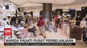 VIDEO: Libur Lebaran, Warga Jakarta Padati Mal