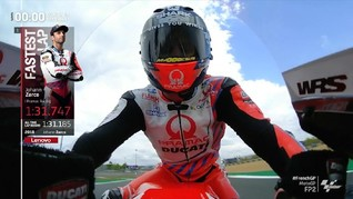 VIDEO: Zarco Tak Terkejar di FP2 MotoGP Prancis