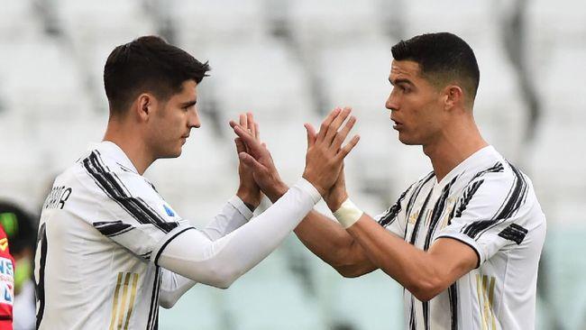 Pelatih Juventus Andrea Pirlo menyatakan Cristiano Ronaldo untuk kali pertama senang ditarik keluar di laga Juventus vs Inter Milan.