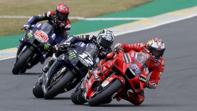 Klasemen MotoGP 2021 berubah setelah pembalap Ducati Jack Miller berhasil jadi juara di MotoGP Prancis, Minggu (16/5).