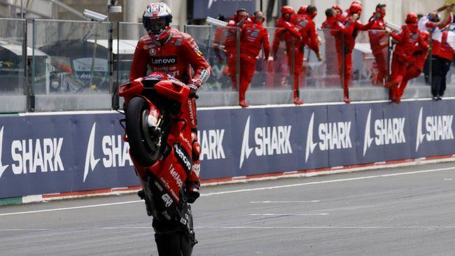 Pembalap Ducati, Jack Miller mengaku sempat bingung sebelum memastikan jadi juara MotoGP Prancis di Sirkuit Le Mans, Minggu (16/5).