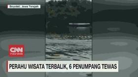VIDEO: Perahu Wisata Terbalik, 6 Penumpang Tewas
