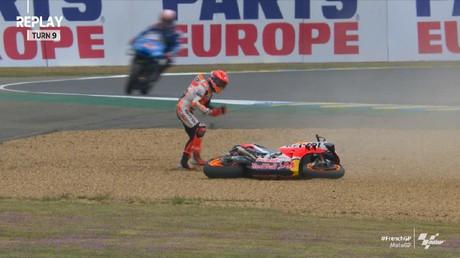 VIDEO: Kecelakaan Marquez di Kualifikasi MotoGP Prancis