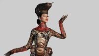 <p>Meski online, Ayuma tetap sukses berjalan di atas panggung dengan empat kostum uniknya, Bunda. Salah satunya kostum komodo ini yang merupakan kolaborasi dari beberapa desainer Indonesia. (Foto: Instagram @ayumaulida97)</p>