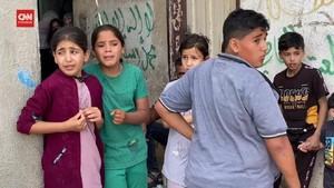 VIDEO: Tangis Warga Gaza Ratapi Korban Serangan Israel