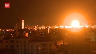 VIDEO: Pesawat Tempur Israel Kembali Gempur Jalur Gaza