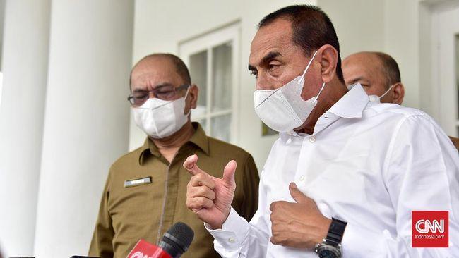 Gubernur Sumut Edy Rahmayadi menyoroti tambang ilegal saat melantik Jakfar Sukhairi-Atika Azmi sebagai Bupati-Wakil Bupati Mandailing Natal.