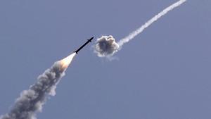 FOTO: Rudal Israel Kerja Keras Tangkal Hujan Roket Hamas
