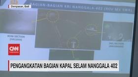 VIDEO: Pengangkatan Bagian Kapal Selam Nanggala 402