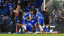 Hasil Liga Inggris: Man City Kalah 2-3 dari Brighton