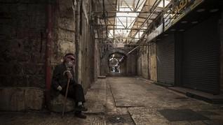 FOTO: Mogok Massal Warga Palestina Lumpuhkan Ekonomi Israel