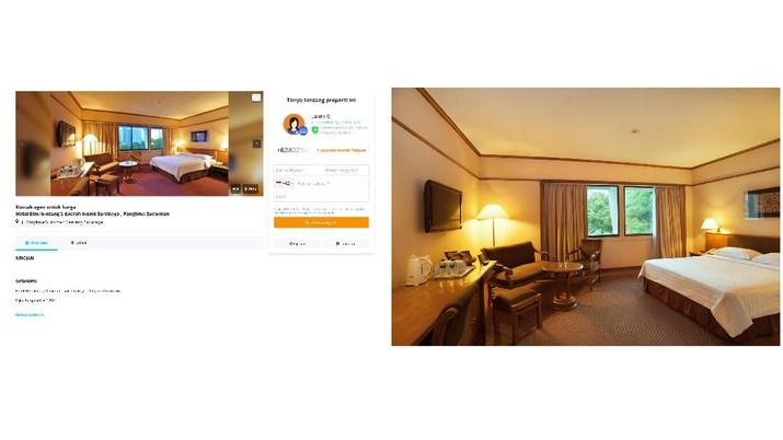 Elmi Hotel (Tangkapan Layar Website elmihotel.co.id dan Lamudi)