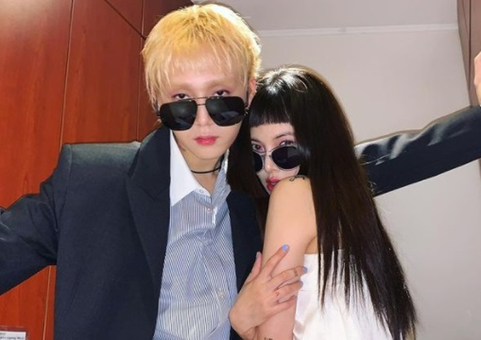 Keduanya diberitakan memiliki hubungan spesial, lalu memutuskan hengkang dari Cube Entertainment dan membangun karier baru bersama P Nation / foto: instagram.com/hyunah_aa