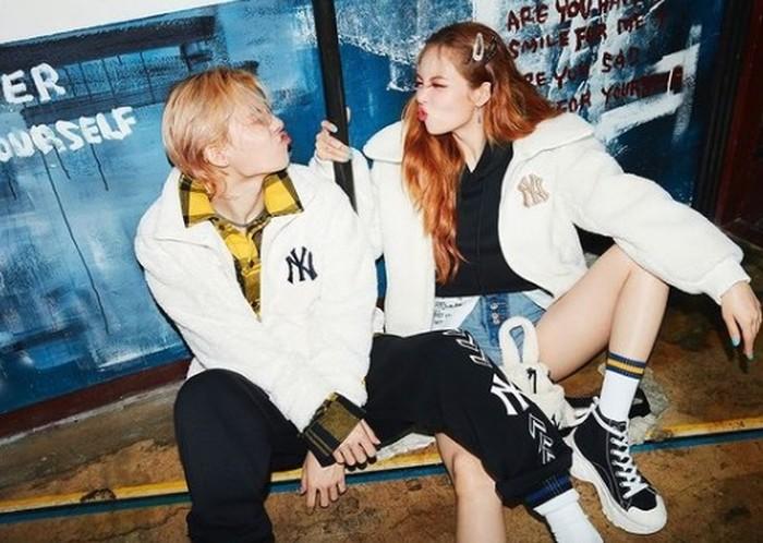 PSY selaku bos P Nation sendiri sangat mendukung masa depan karier mereka. Dan kalau proyek ini terealisasikan, maka HyunA dan Dawn akan menjadi couple dalam kehidupan nyata pertama yang debut sebagai grup duo / foto: instagram.com/hyunah_aa