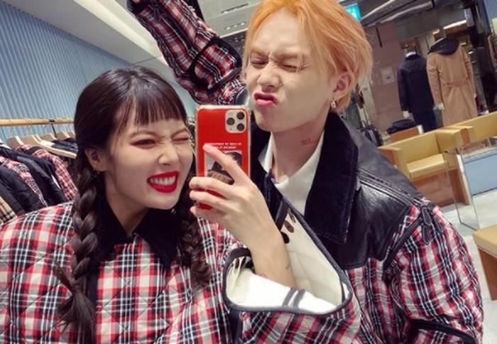 Saat masih di Cube Entertainment, HyunA dan Dawn juga pernah berkolaborasi dalam grup trio bernama Triple H bersama Hui PENTAGON / foto: instagram.com/hyunah_aa