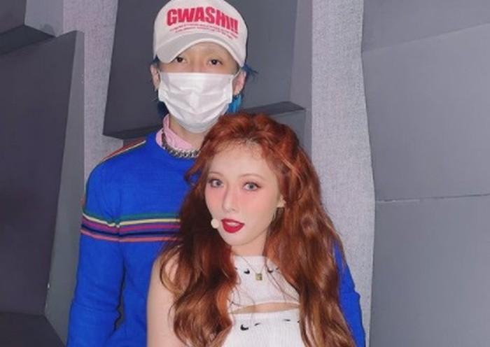 Sebelumnya, Dawn merupakan anggota boy group PENTAGON, sedangkan HyunA tergabung dalam girl group 4Minute serta aktif sebagai penyanyi solo di Cube Entertainment / foto: instagram.com/hyunah_aa