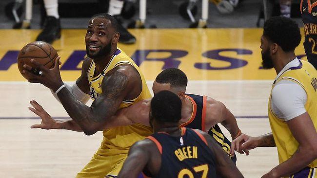 Los Angeles Lakers lolos ke playoff NBA setelah menang atas Golden state Warriors di play-in NBA.