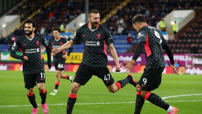 Sejumlah fakta muncul setelah Liverpool masuk zona Liga Champions usai menang 3-0 atas Burnley pada pekan ke-37 Liga Inggris.