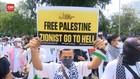 VIDEO: Aksi Bela Palestina Depan Kedubes AS Jakarta