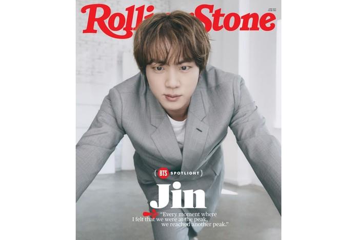 Bicara soal wajib militer, Jin berkata kalau di bawah hukum yang baru, ia dapat menunda waktu wajib militernya hingga tahun 2022. Sambil menunggu gilirannya tiba, Jin berjanji untuk terus bekerja keras dan melalukan yang terbaik / foto: rollingstone.com