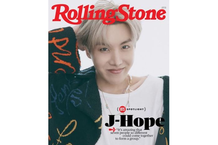 J-Hope masih mencari inspirasi dan terus bekerja membuat karya baru untuk mixtape keduanya. Ia memberi bocoran kalau lagu-lagu barunya akan memiliki citra yang lebih dewasa / foto: rollingstone.com