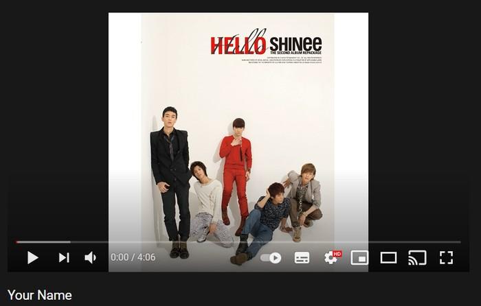 1. Your Name - 2nd Repackage Album 'Hello' (2010) / foto: youtube.com/shinee