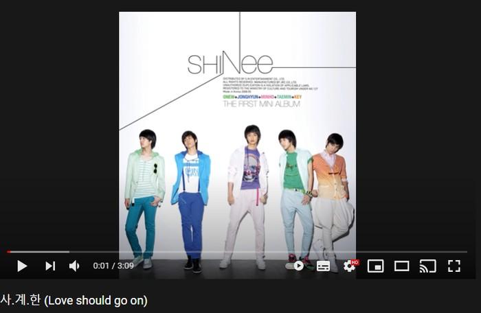4. Love Should Go On - 1st Mini Album 'Replay' (2008) / foto: youtube.com/shinee