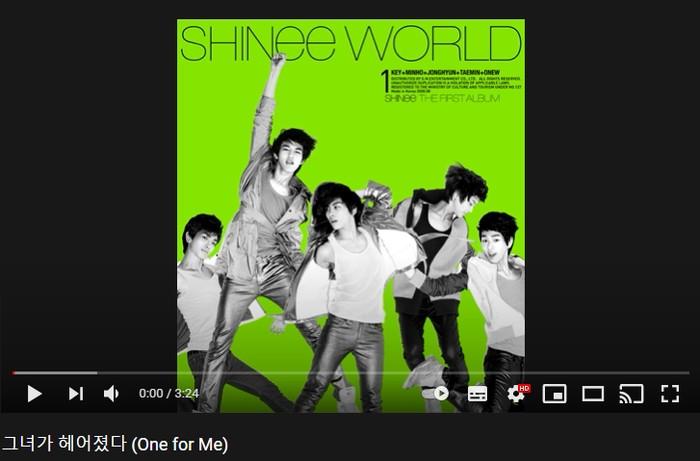 6. One for Me - 1st Album 'The SHINee World' (2008) / foto: youtube.com/shinee