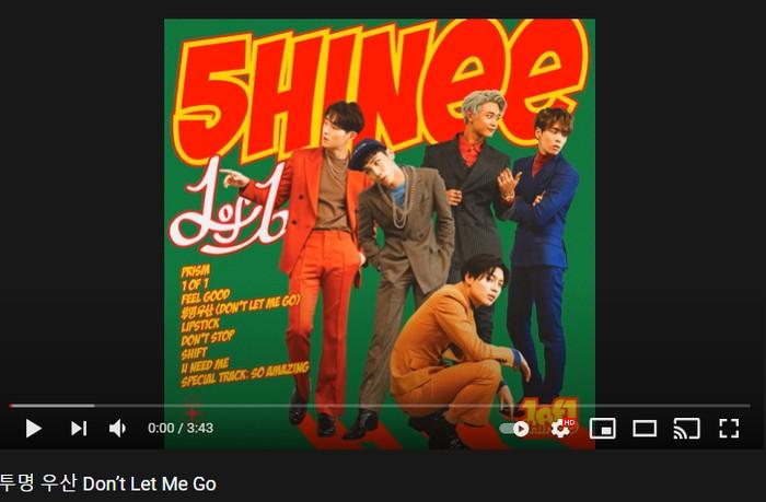 7. Don't Let Me Go - 5th Album '1of1' (2016) / foto: youtube.com/shinee