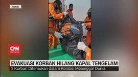 VIDEO: Evakuasi Korban Hilang Kapal Tengelam