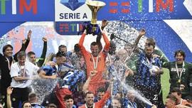 FOTO: Pesta Inter Milan Juara Liga Italia