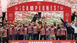 Atletico Angkat Trofi Liga Spanyol di Stadion yang Kosong