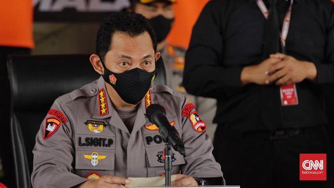 Kapolri Jenderal Listyo Sigit menyebut setidaknya lahan yang terbakar dalam kasus kebakaran hutan yang menjerat 129 tersangka tersebut mencapai 634.052 hektare.