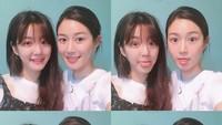 <p>Ketika berpose di depan kamera, Lee Da In dan Lee Yu Bi kerap menampilkan pose kompak. Wajah mereka yang sama-sama imut membuatnya terlihat seperti saudari kembar ya? (Foto: Instagram: @xx__dain)</p>